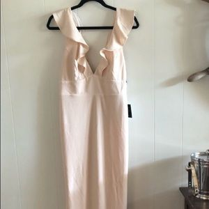 Lulus blush formal maxi dress NWT